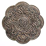 Stratton Home Décor S11571 Rustic Bronze Medallion Wall, Brown Review