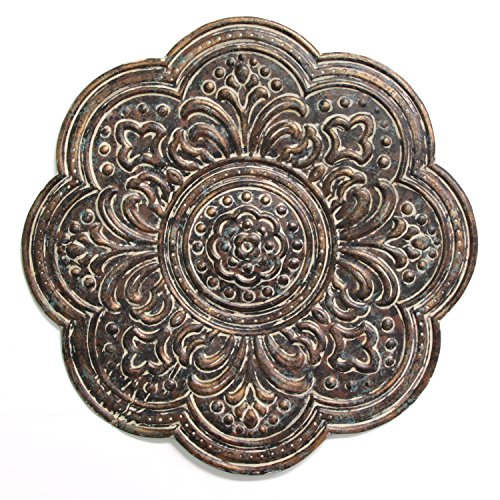 Stratton Home Décor S11571 Rustic Bronze Medallion Wall Décor, 18.00 W X 0.50 D X 18.00 H, Brown (Decor Medallion Metal Wall)