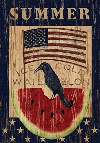 Ice Cold Watermelon Summer House Flag Primitive Patriotic 28