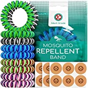 Triple Coil Mosquito Repellent Bracelets [10pc] & Insect Repellent Patches [120pc] World's First Triple Coil Mosquito…