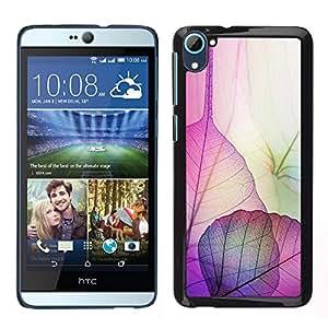 For HTC Desire D826 , S-type® Leaves Floral Autumn Fall Nature - Arte & diseño plástico duro Fundas Cover Cubre Hard Case Cover