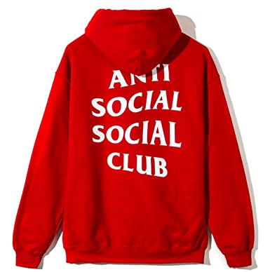 cbaebb1e9fe5 Anti social social club hoodie RED as worn by Kanye West yeezy   Amazon.co.uk  Clothing
