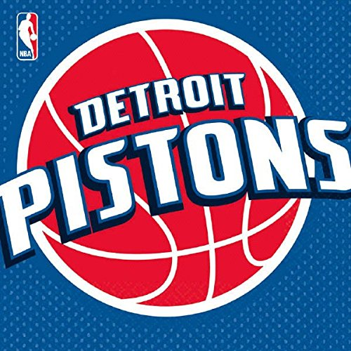 Detroit Pistons Table - Sports and Tailgating NBA Party Detroit Pistons Luncheon Napkins Tableware, Paper, 6