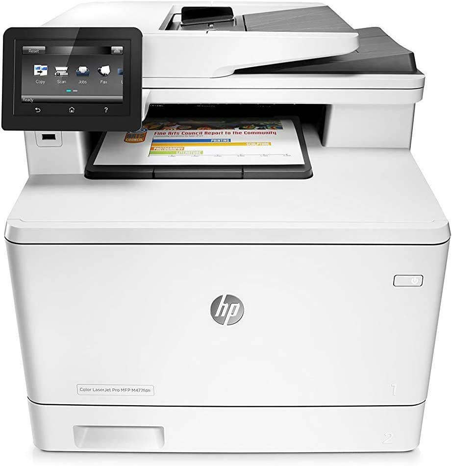 HP Laserjet Pro M477fdn Multifunction Color Laser Printer with Built-in Ethernet & Duplex Printing (CF378A) (Renewed)