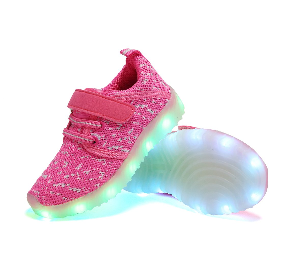 adituob Kids Girls LED Shoes Children Boys USB Charging Flashing Trainer Sneakers Shoes Low Top Shoes