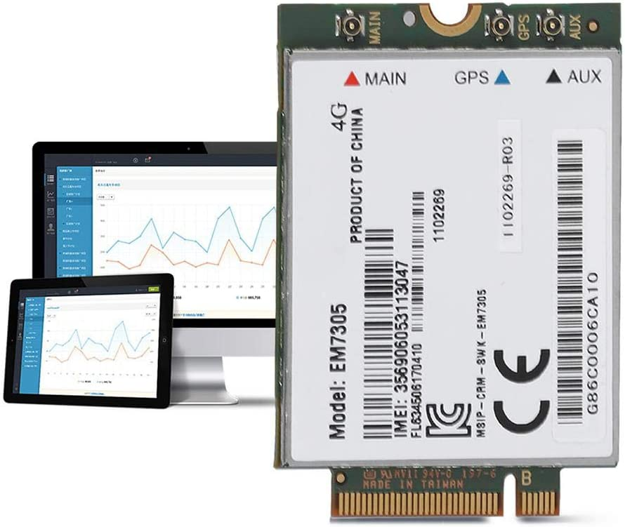 High Speed Wireless EM7305 LTE NGFF Interface Network Card for Dell Venue 11 Pro Support GPS Mugast 4G WiFi Card