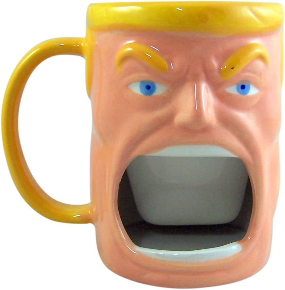 Paladone Pug Hug Coffee Mug with Cookie Holder 10oz