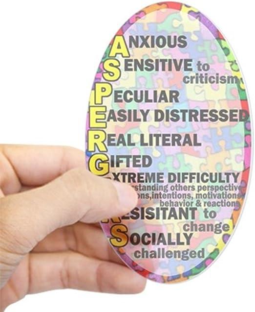 Cafepress Autismus Aspergers Aufkleber Oval Oval Bumper Sticker Kfz Aufkleber Farblos Small 3x5 Küche Haushalt