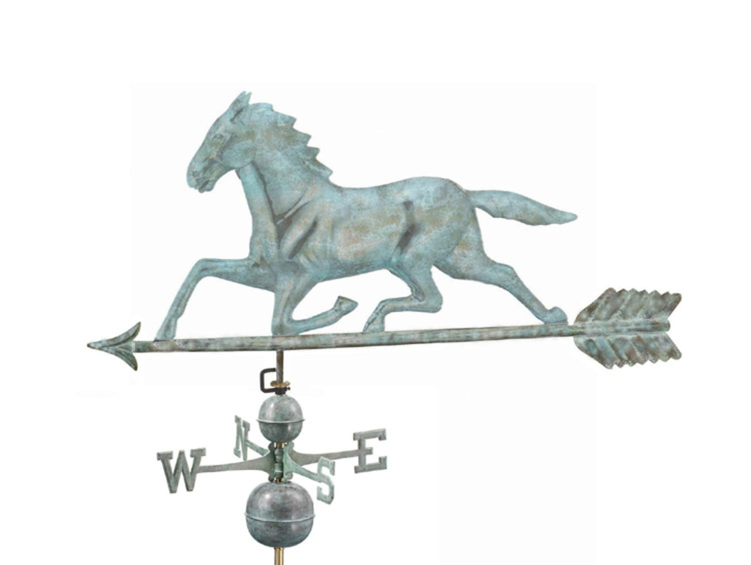48'' Grand Luxury Blue Verde Galloping Horse Weathervane