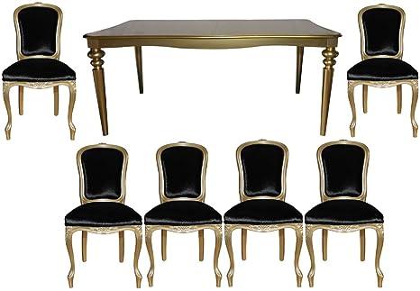 Tavoli Da Pranzo Antichi : Casa padrino barocco da pranzo di lusso ambiente impostata oro
