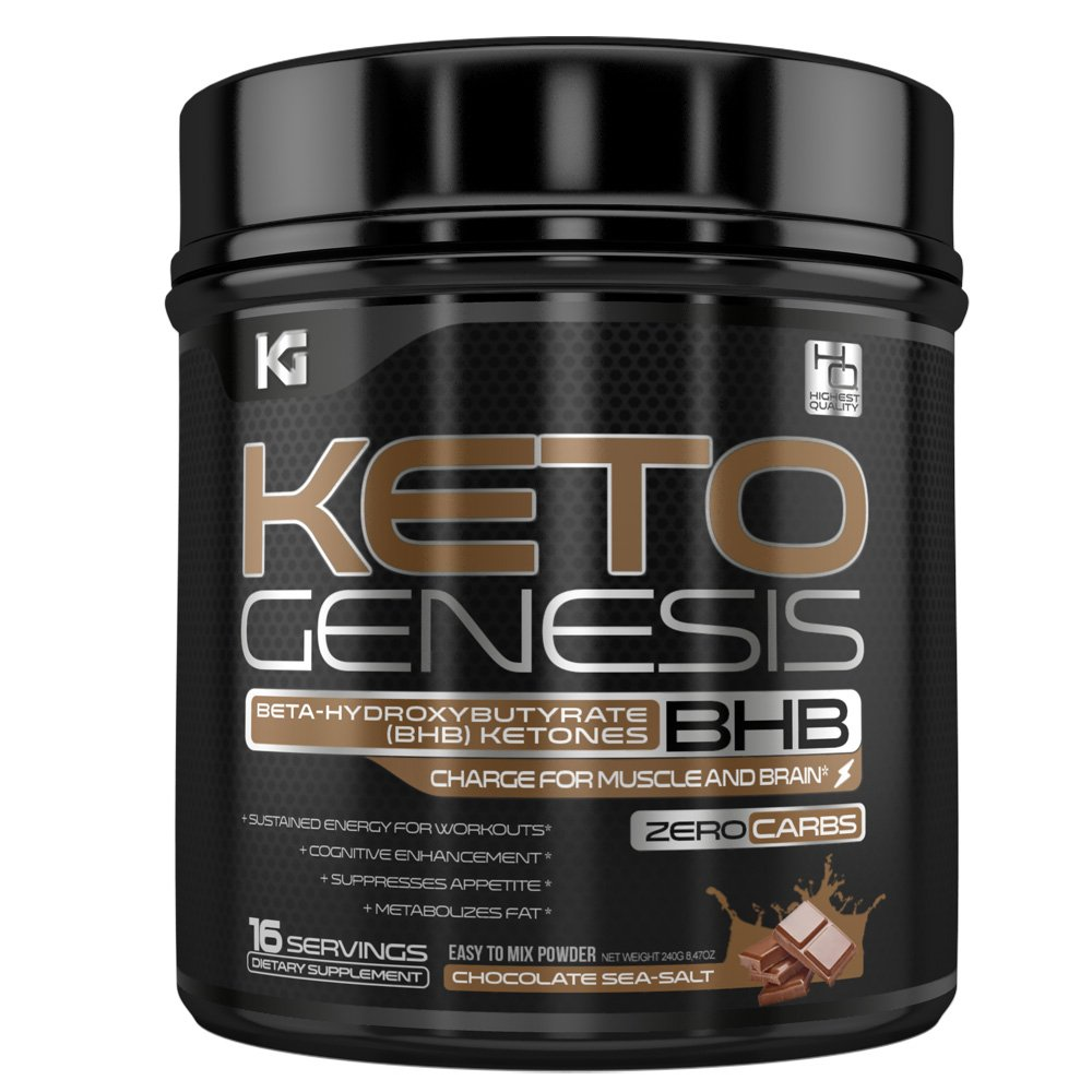 Keto Genesis BHB Drink - 100% Natural & Delicious Rich Chocolate Sea Salt Exogenous Ketones Snack/Ketogenic Meal Replacement - Fire Up Ketosis, Burn Fat & Increase Energy (Rich Chocolate Sea Salt) by Viva Deo