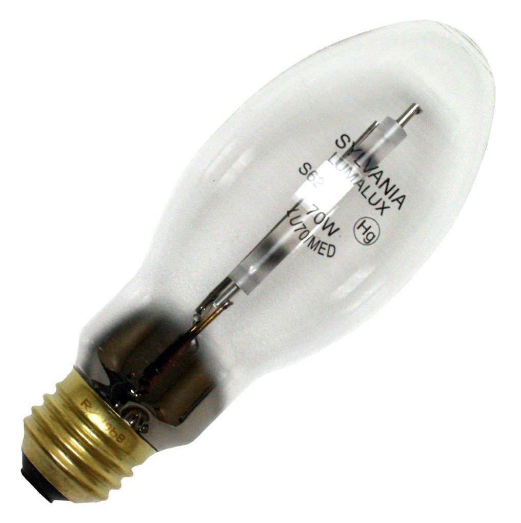 Sylvania 67504 (6-Pack) LU70/MED 70-Watt High Pressure Sodium HID Light Bulb, 1900K, 6300 Lumens, E26 Base