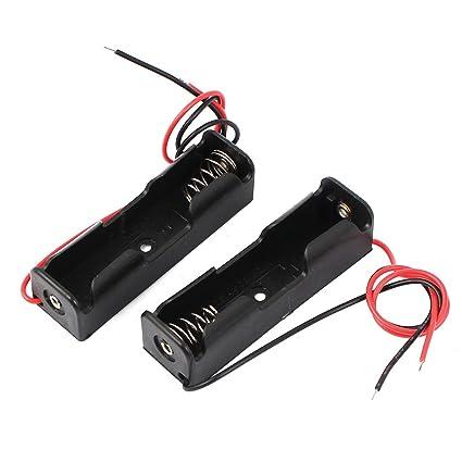 Amazon.com: 2pcs Spring Clip Black Plastic 1 x 1.5V AA Battery Case ...