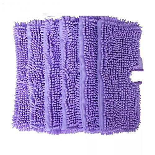 EcoMaid Replacement Duster Pads Suitable for Shark Pocket Steam Mop S3501 (Pack of 6) (Purple)