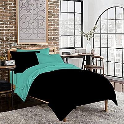 Twin XL Dorm Room Reversible Duvet Bedding Set - Soft & Comfy 100% Cotton- By Sportstimedestiny