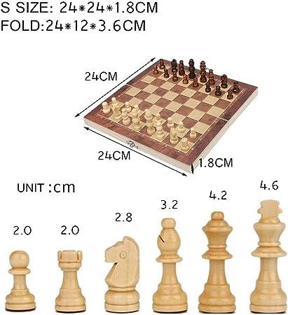 Kanqingqing Juego de Mesa de Viaje 3 en 1 Interacción Tablero Plegable Juego de ajedrez Ajedrez Backgammon Damas Internacional Infantil Temprano Juego Educativo Familia para niños y Adultos: Amazon.es: Hogar