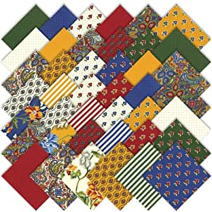 Moda Savonnerie Charm Pack, Set of 42 5-inch (12.7cm) Precut Cotton Fabric Squares
