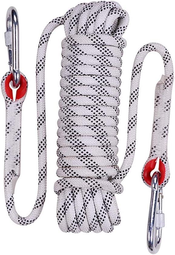 S/écurit/é Sauvetage pour Collier de Chien randonn/ée 10 mm Durable Statique sp/él/éologie ECOLOG Corde descalade de 10 m x 20 m Camping avec 2 mousquetons