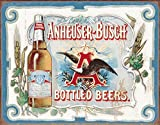 Anheuser Busch - Bottled Beers Tin Sign 16 x 12in