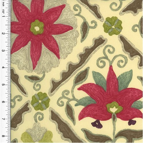 (Designer Multicolor Floral Diamond Print Home Decorating Fabric, Fabric by The Yard)