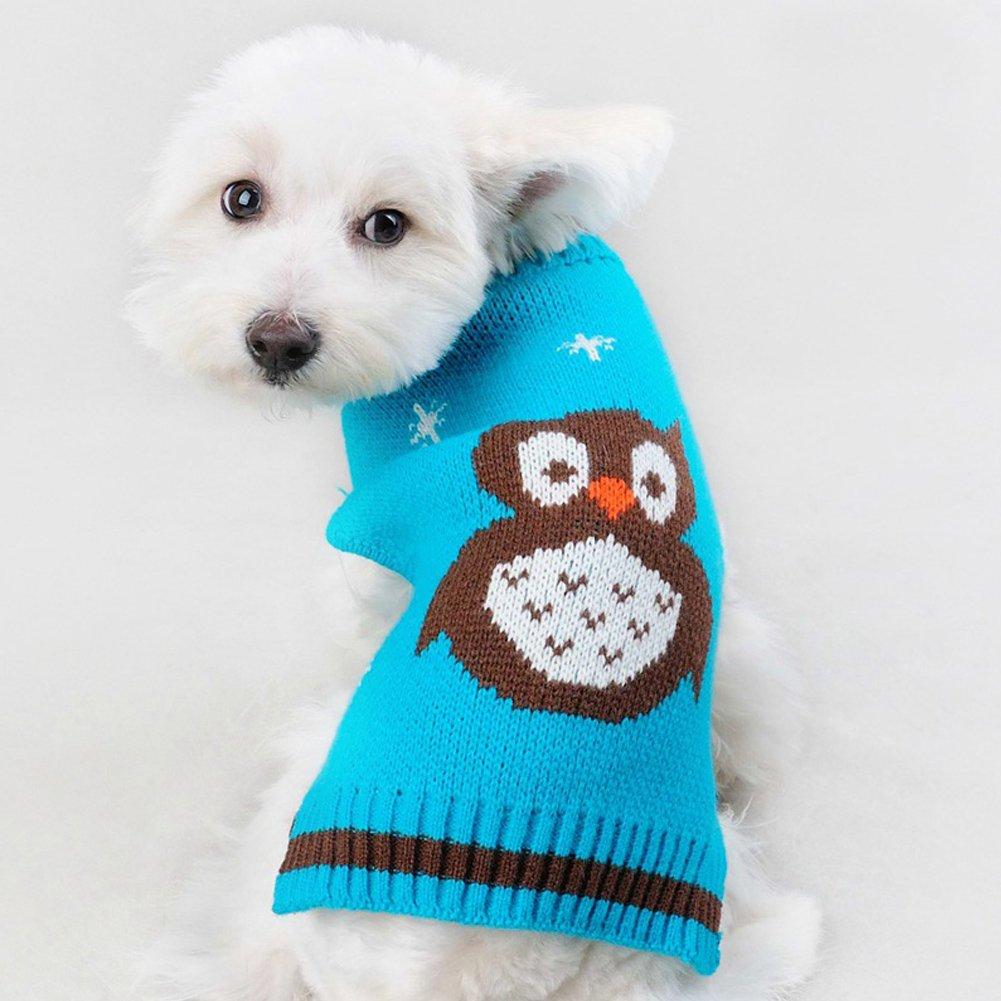 BOBIBI Pet Holiday Halloween Owl Dog Sweater Pet Winter Knitwear Warm Clothes