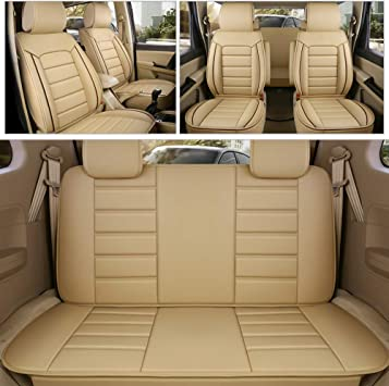 PU Leather Luxury Car Front Seat Cover Cushion Full Surrounded All Season Black