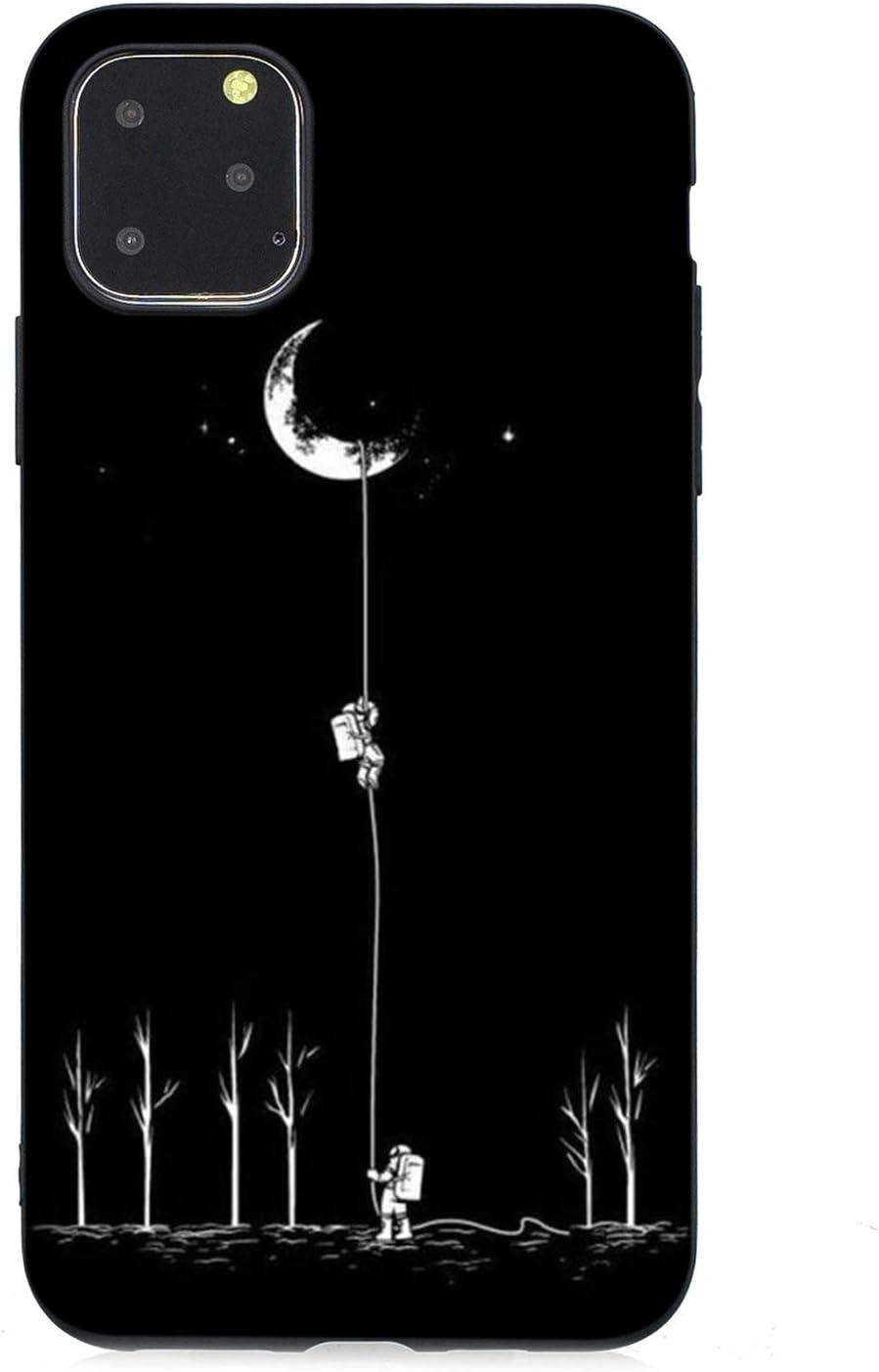 WIWJ Funda para Huawei P20 Carcasas Negro Mate Ultrafina Silicona TPU Piel Cover Disney Dibujos 360 Tumblr Dura con Tapa Madera Anti Ara/ñazos Bumper Case Astronauta Choques y Anti