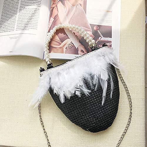 coréenne Sac l'épaule bandoulière Dames personnalité Messenger Sac Main Fille Main chaîne Noir Version à à à nbsp;Satchel WSLMHH Sacs Mode de Sac axBnI6wqtv