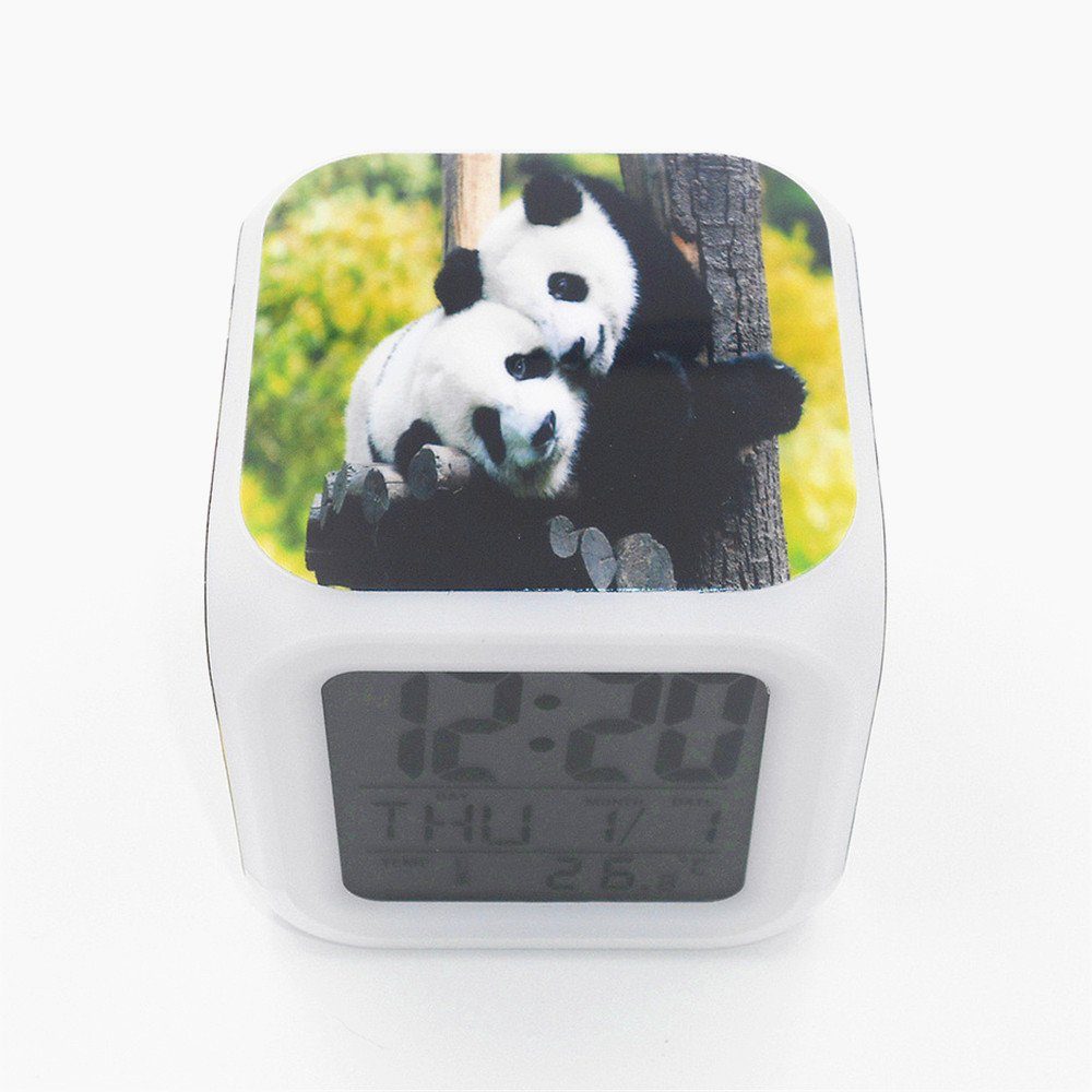 Boyan New Cute Panda Animal Led Alarm Clock Desk Clock Multipurpose Calendar Snooze Glowing Led Digital Alarm Clock for Unisex Adults Kids Toy Gift by Boyan (Image #5)