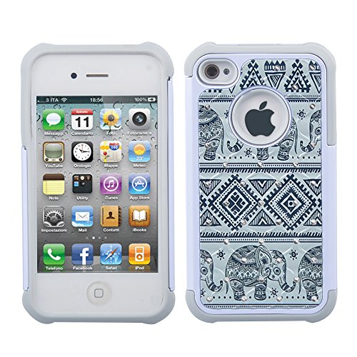 iPhone 4s Case, iPhone 4 Case, 4s Case, - Bling Elephant Iphone Case