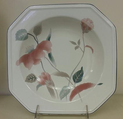 Amazon mikasa continental silk flowers rim square soup bowl mikasa continental silk flowers rim square soup bowl mightylinksfo