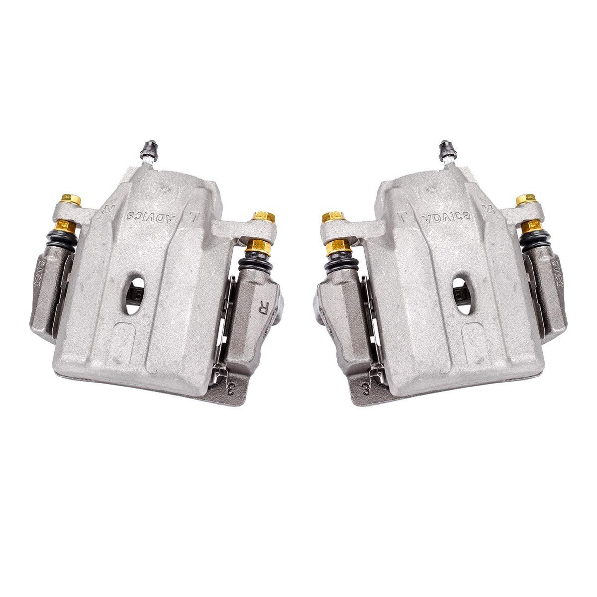 Callahan CCK04555 [2] FRONT Premium Semi-Loaded Original Brake Caliper Pair + Hardware [ 2004-2009 Toyota Prius ]