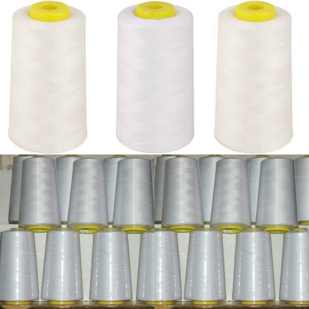 Rocchetti di filo di poliestere per macchina da cucire, 4500 m, colore bianco Superstitch/Cometa