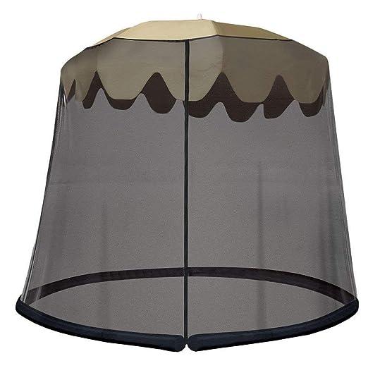 9 pies Mosquito de malla negro para al aire libre Paraguas timbre ...