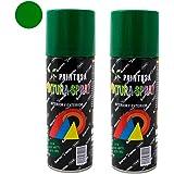 Paintusa - Pack de 2 botes de pintura en spray Verde Oscuro A15 ...