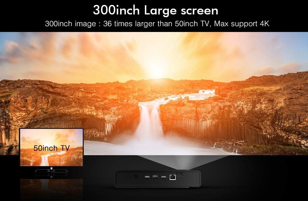Proyector Android 3D DLP-Link WiFi Cine LED Proyector Soporte Corrección Trapezoidal Full HD 1080P 4K HDMI 3800 Lúmenes con Gafas 3D Gratis: Amazon.es: Electrónica