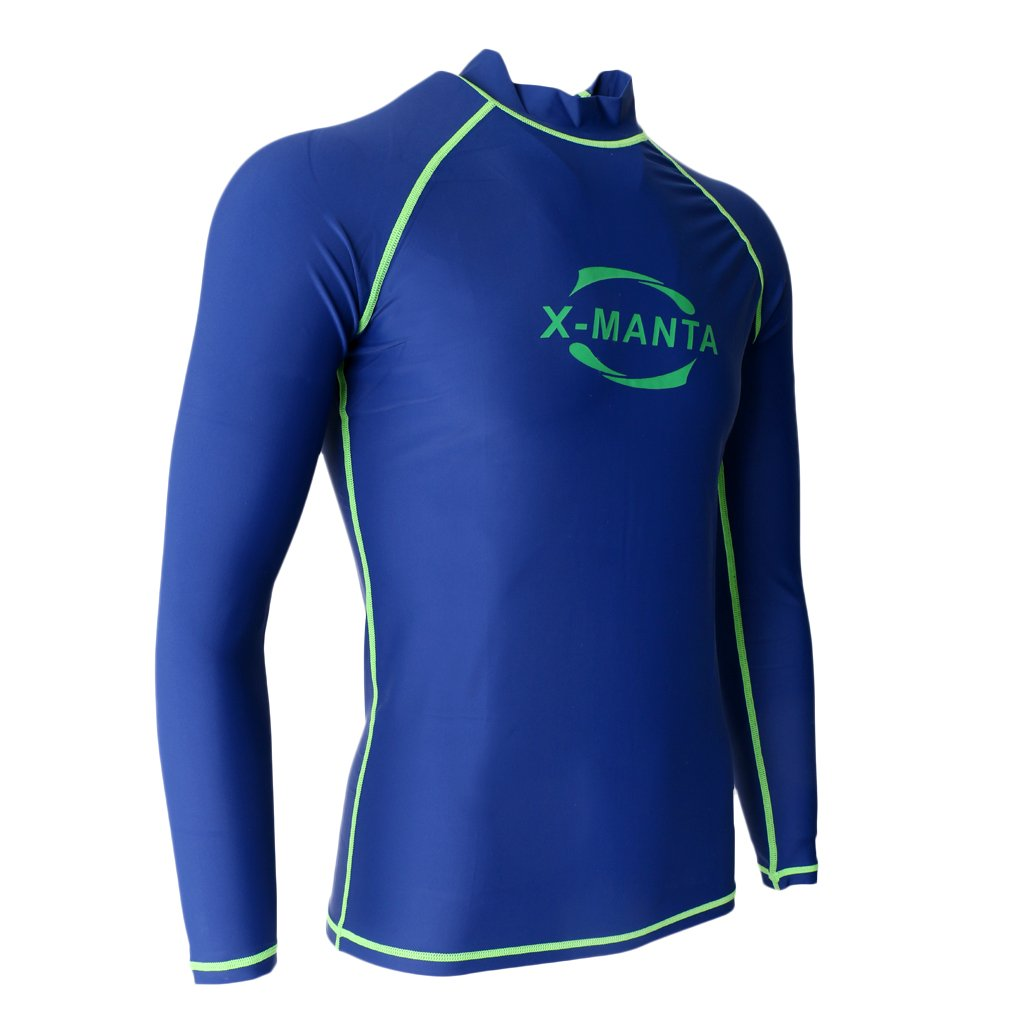 caa8ece622ab8 Buy MagiDeal Men s Rash Guard Top Swimming Surfing Diving Shirts Sun  Protection Long Sleeve Wetsuits Rash Vests Online at Low Prices in India -  Amazon.in