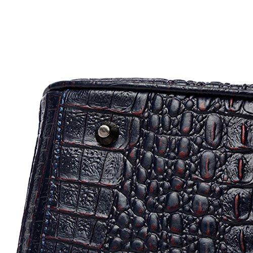 Crocodile Blue Grain Handbags Luxurious Shoulder Handbag Bag Ladies handle Navy Kaxidy Leather Women Top qOgS1wX