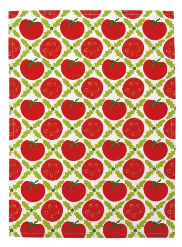 Kate Spain San Marzano Kitchen Towel, Red/Green by Kate Spain