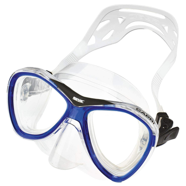 Natation Snorkeling Masque Capri silicone et Tuba avec purge en silicone Unisex Adulte Plong/ée Kit de Randonn/ée Aquatique Seac Set Capri