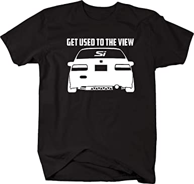 Amazon Honda Civic Lowered SI Get Used The View Racing Mens T Shirt Clothing