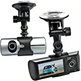 "Generic 2.7"" LCD Dual Lens Camera Car DVR Dash Board Car Blackbox Vehicle Video Recorder X3000 + GPS Logger + G-sensor"