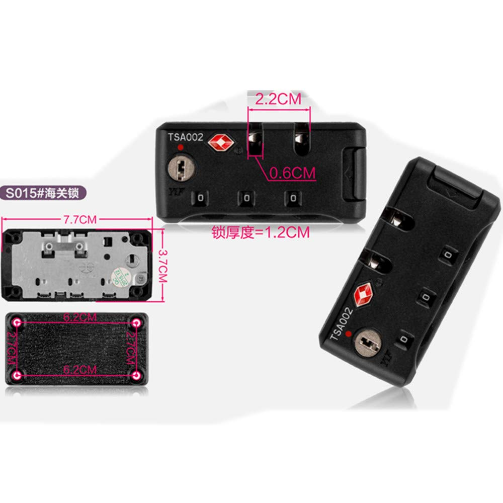 Travel Luggage//suitcases Password lock Replacement Accessories parts S015 YF Set of A pair