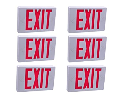 Mfyo 6 Pack Led Emergency Exit Sign With Back Up Batteries Ul