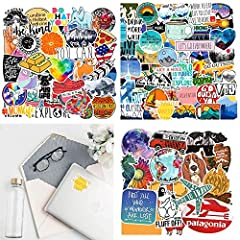 Dimensions in 2-6 inch,the round stickers are about 3 inches.All our pictures are in AI format,the image resolution is not less than 300DPI.So it's HD printing,which guarantees clarity and color balance.The sticker is made of PVC waterproof m...