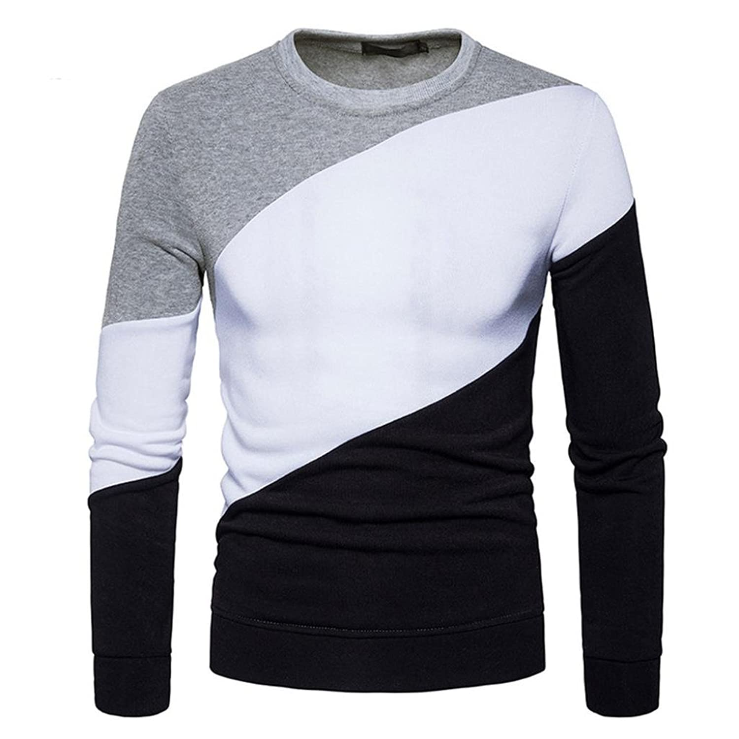 0245e5e7 Longay Men's Sweater Plus Size Sweatshirt Slim Fit Long Sleeve Warm  Knitting Pullover Top Blouse good
