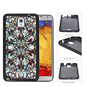 Symmetrical Swirls With Colorful Accents Rubber Silicone TPU Cell Phone Case Samsung Galaxy Note 3 III N9000 N9002 N9005