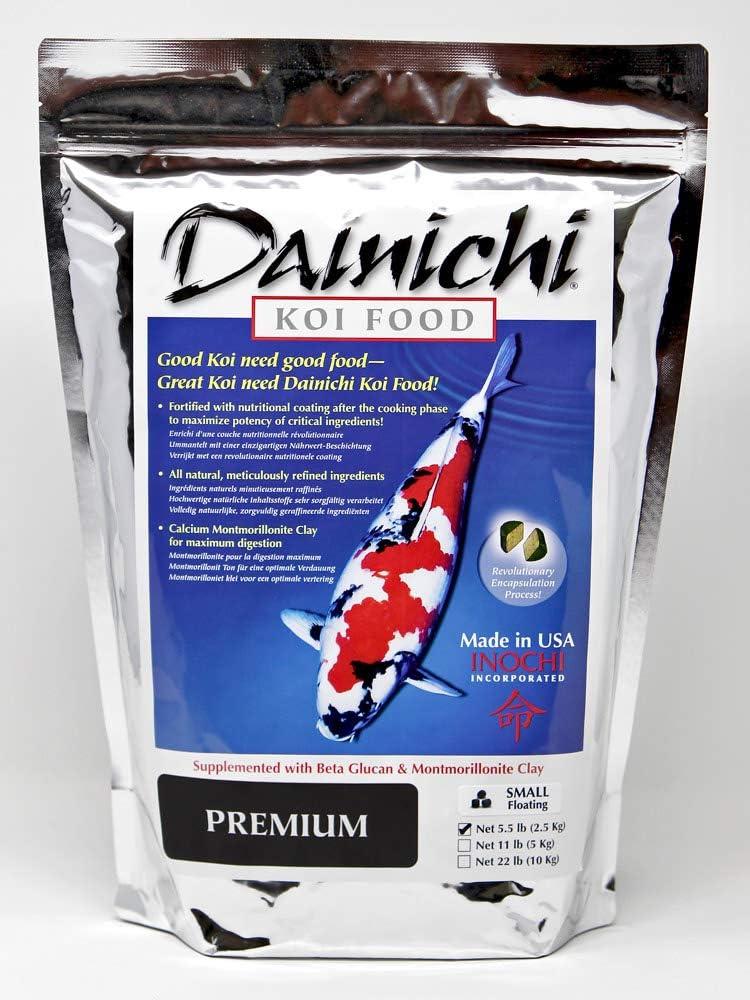 Dainichi Koi Food Premium, Small Floating (3.5 mm) Pellets, 5.5 lb