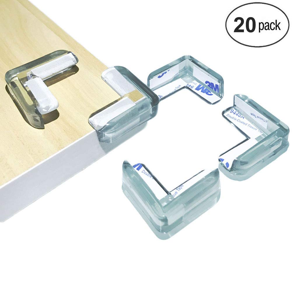 Upgraded Corner Protectors Clear Corner Guards for Baby Safety, Transparent Sticky Corner Protectors for Children Proofing Sharp Edge, Bumpers Protectors Against Sharp Furniture, Tables Corner Pre-Tap NADARDA