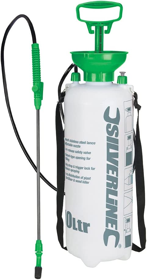 8 Litre Garden Sprayer Pressure Medium Bottle Manual Weed Pump Chemical Tank